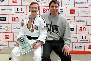 Michal Černý se svým trenérem