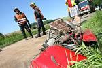 Při dopravní nehodě u Štíhlic se vážně zranil osmnáctiletý mladík