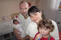 Rodina Petra a Evy Bonkových z Choťánek se rozrostla o dalšího člena. Tříletá Barunka má od 28. prosince 2011 sestřičku Elišku. Eliška Bonková se narodila s výškou 51 centimetr a váhou 3930 gramů.
