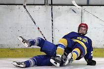 Z utkání hokejové ligy juniorů Kolín - Nymburk.