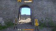 Brána u Pirkštejna v Ratajích nad Sázavou - pohled ze hry