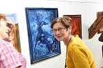 Z vernisáže výstavy Marie Svobodové v Galerii V Zahradě Základní umělecké školy Františka Kmocha v Kolíně.