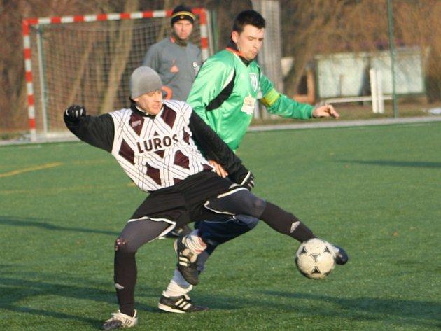 Z utkání zimního turnaje Červené Pečky - Ratboř (8:0).