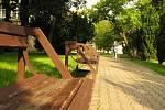 Komenského park v Kolíně.
