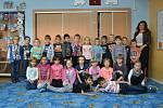 1. A Základní školy v Plaňanech s třídní učitelkou Pavlou Patočkovou