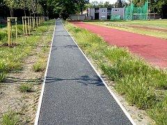 Kolínští sprinteři se brzy dočkají nové výborné tréninkové pomůcky. Tou je 90 metrů dlouhá nakloněná rovina.