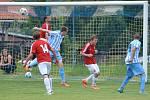 Z utkání Krakovany - Jevany (0:3).