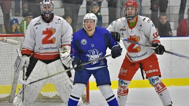 Hokejisté Kolína porazili doma Žďár nad Sázavou 4:2.