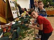 Ze zahájení výstavy o životním prostředí v Městském společenském domě v Kolíně.