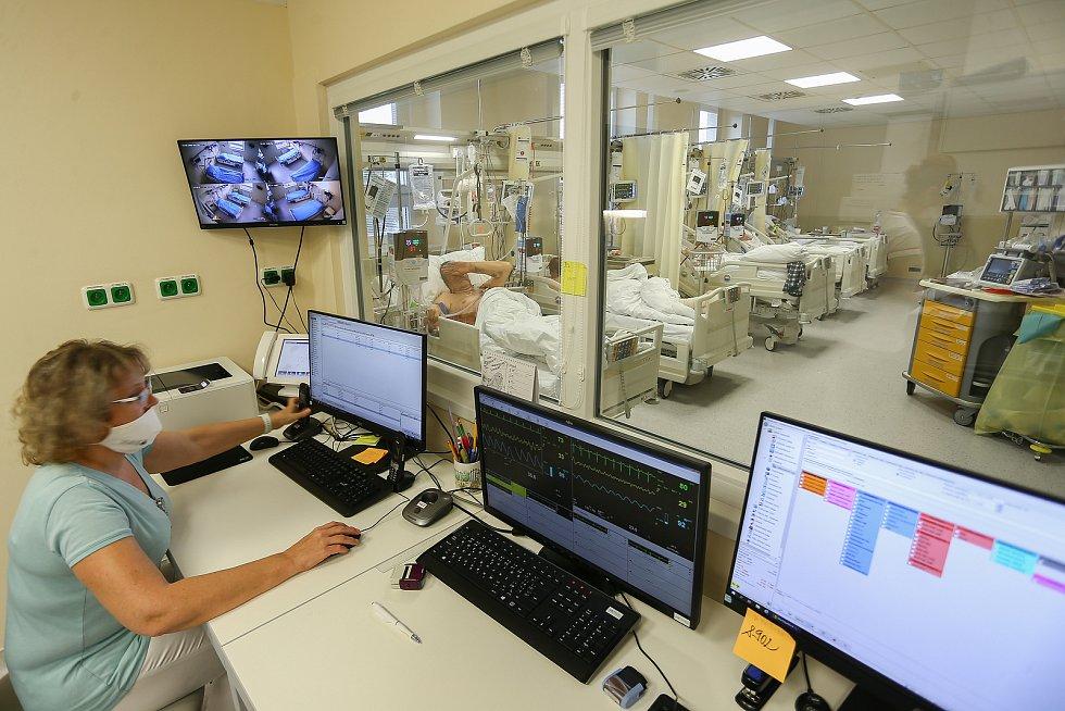 Oddělení pro pacienty s covid-19. Ilustrační foto.