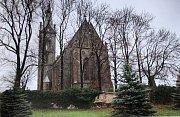 Na počátku dvacátého století byl postaven pseudogotický kostel sv. Jana Křtitele, který je zachycen na snímku ve dnešní podobě.