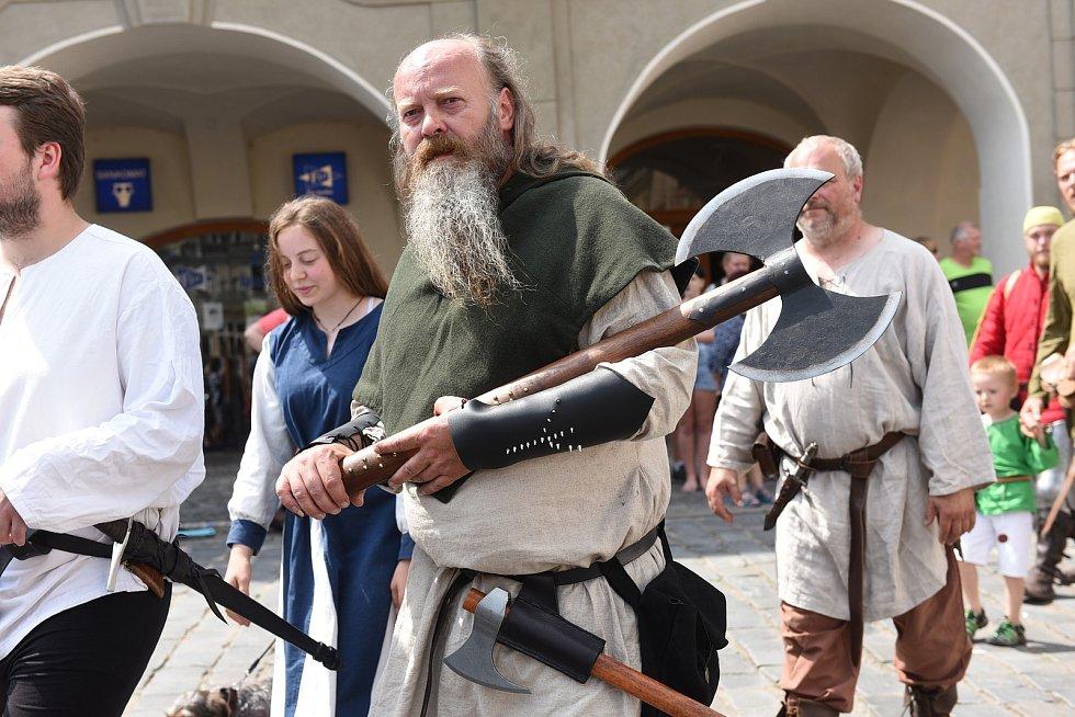 Z pozvánky na rekonstrukci historické bitvy 'Čas králů' na Karlově náměstí v Kolíně.