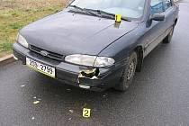 Nehoda u OD Tesco v Pečkách