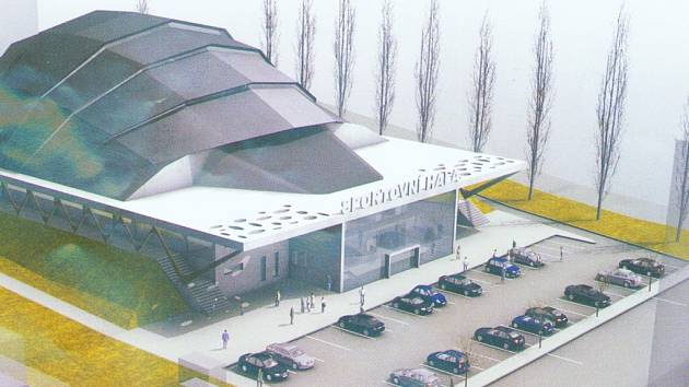 Vizualizace budoucí sportovní haly