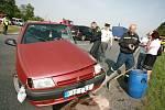 Dopavní nehoda na křižovatce od obce Kaňk na Kolín