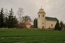 Kostel sv. Václava v Žabonosech.