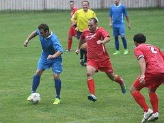 Z utkání Bečváry - Tuchoraz (2:3).