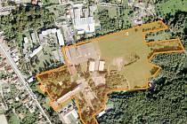 Areál sanatorky v Kostelci nad Černými Lesy.