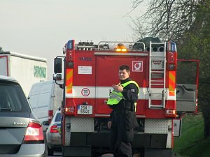 Dopravní nehoda na silnici I/38 u Libenic.