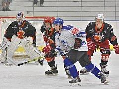 Hokejisté Kolína porazili doma Žďár po prodloužení 3:2.