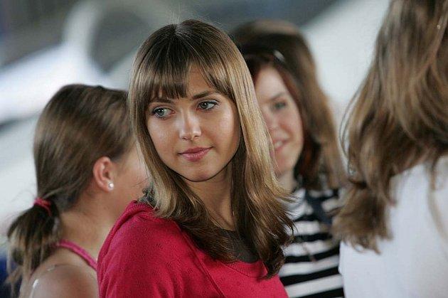 Miss Polabí na kolínském letišti.