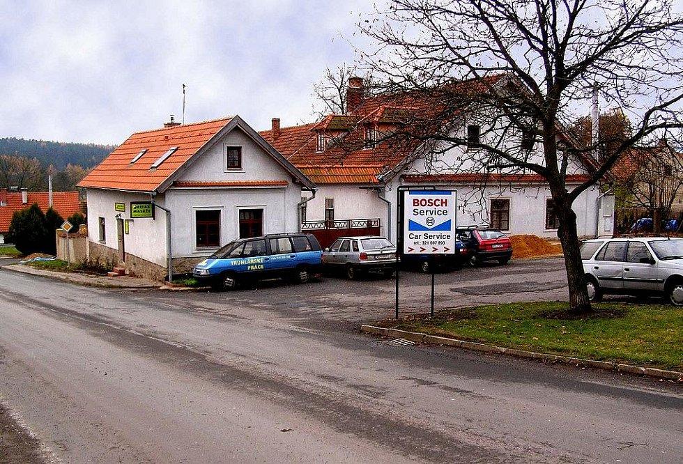 Místo, kde stávala hospoda, v níž nocoval Jiří Poděbradský