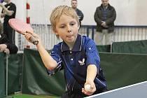 Nadějný Matěj Záboj (na snímku) obsadil v turnaji žáků v Kolíně 2. místo.