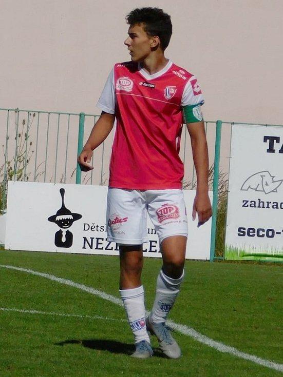 Mladý fotbalista Václav Jindra