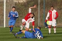 Z utkání FK Kolín - Kunice (2:2).