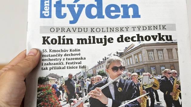 Titulní strana dvacátého čtvrtého čísla týdeníku Kolínský týden.