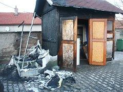 Požár dětského hřiště v Ovčárech.