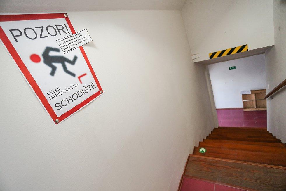 Radnice v Kolíně: schody k IT oddělení.