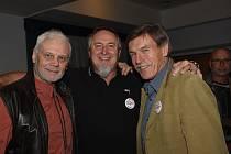 Ze setkání zakladatelů Občanského fóra v Kolíně po třiceti letech v salonku hotelu Theresia.