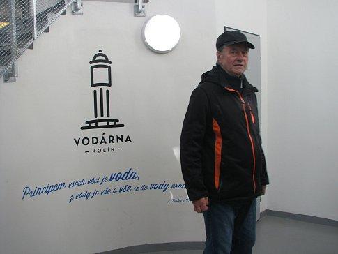 Vodárna v Kolíně slouží jako rozhledna.