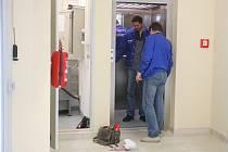 Oprava výtahu v obchodním centru Futurum Kolín