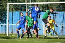 Z divizního fotbalového utkání Český Brod - Souš (2:1)