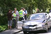 Dopravní nehoda v Orebitské ulici. 19. srpna 2008