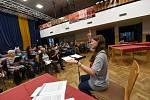 Pěvecké sbory vyzkoušely vokální party na Podzimní koncert Kolínské filharmonie, který se uskuteční v sále Městského společenského domu 6. listopadu.