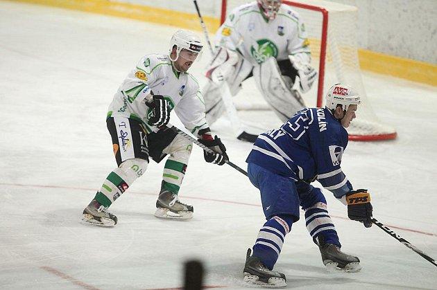 Z druhého utkání čtvrtfinále play-off II. NHL;  Kolín - Trutnov