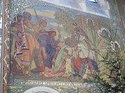 Gruntecký kryptogram v bazilice Nanebevzetí Panny Marie v Gruntě.