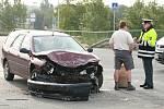 Dopravní nehoda v Havlíčkově ulici v Kolíně.