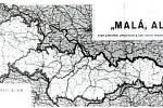 Reklamní mapa továrny Kolínské cikorky, Česko-Slovenská republika v roce 1938.