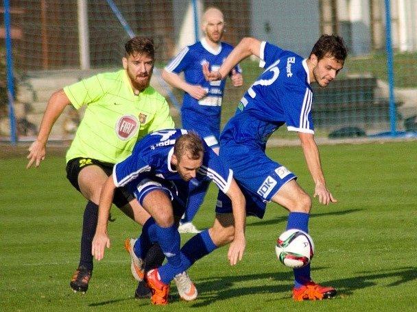 Z utkání FK Kolín - Přední Kopanina (1:1, PK 8:9).