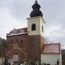Kostel v Rovné (dnešní část Stříbrné Skalice) - reálný pohled