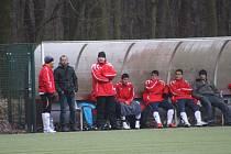 Z utkání kolínského zimního turnaje Velim - Nymburk (0:2).