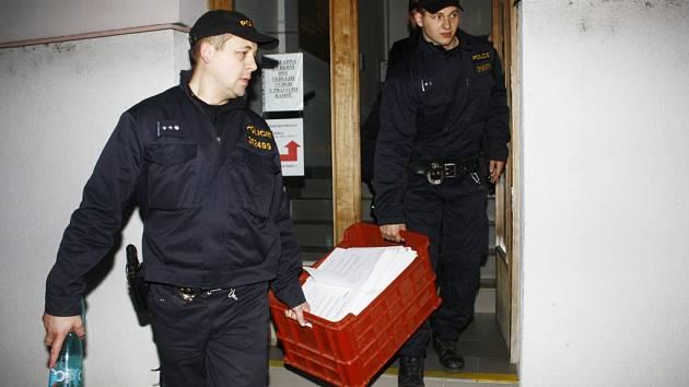 Uzavření kolínského odboru dopravy policií