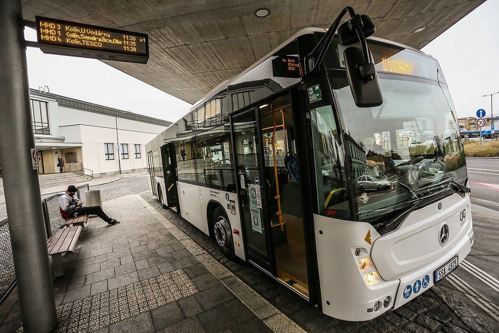 Autobusové nádraží v Kolíně.