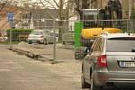 Oprava Nerudovy ulice v Kolíně.