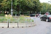 Kruhové objezdy v Masarykově ulici v Kolíně