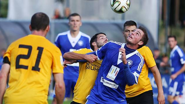 Z utkání FK Kolín - Sokolov (1:4).